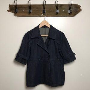 Theory Denim Jacket Half Sleeve Size Large